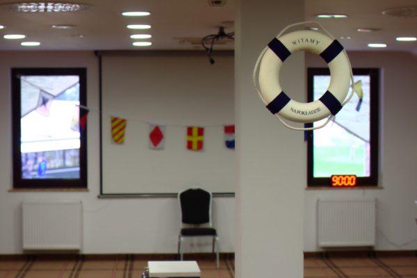 Mobilny escape room w sali konferencyjnej motyw żeglarski